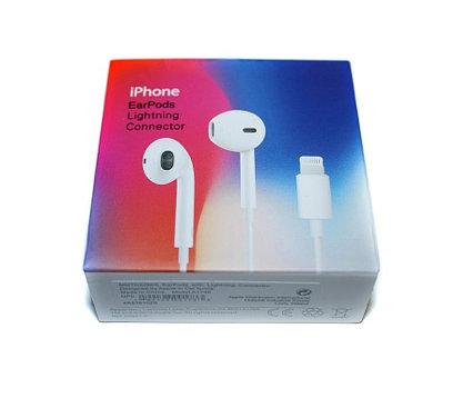 Проводная стерео-гарнитура для смартфона Apple, Lightning 8pin, вкладыши, микрофон, белые