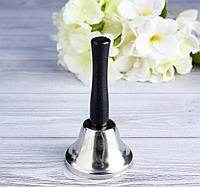 Колокольчик настольный серебро-золото 12 см