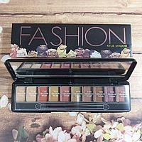Набор теней палитра для макияжа 10 цветов теней