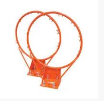Баскетбольное кольцо усиленное с сеткой