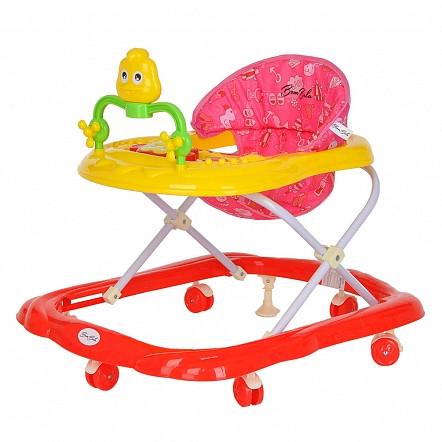 BAMBOLA Ходунки ЦЫПА (6 пласт.колес,игрушки,муз) 7 шт в кор.(66*53*52) RED Красный