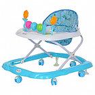 BAMBOLA Ходунки ЦВЕТОЧЕК (6 пласт.колес,игрушки,муз) 7 шт в кор.(66*53*52)  BLUE Голубой