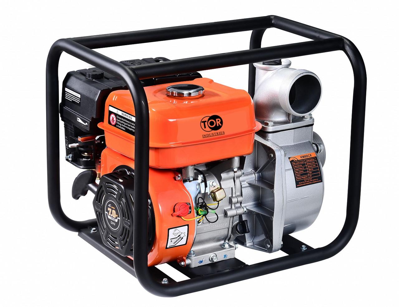 Мотопомпа бензиновая для чистой воды TOR KM80CX 50 м3/час