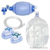 """Мешок дыхательный силиконовый типа """"Амбу"""" с двумя масками, многоразовый, автоклавируемый для детей КД-МП-Д"""