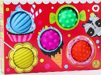 """Подарочный набор развивающих мячиков """"Вкусняшки"""" 5 штук 4916697"""