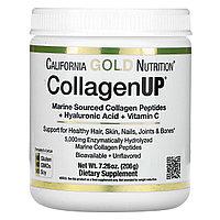 California Gold Nutrition, морской гидролизованный коллаген + гиалуроновая кислота + витамин C,(206 г)