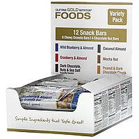 California Gold Nutrition, Foods, ассорти батончиков-снеков, 12 шт. по 40 г