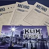Меню на крафт бумаге для ресторана,изготовление, фото 2