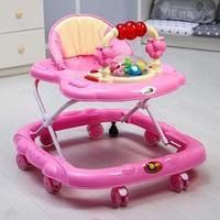Ходунки 'Маленькие друзья', 8 силик. колес, муз., свет, игрушки, розовый