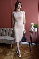Женское осеннее замшевое розовое платье Madech 185271 натуральный 46р.