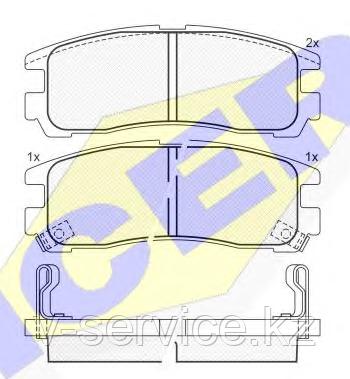 Тормозные колодки YOTO G-013(MD 6024M(REMSA 291.02)