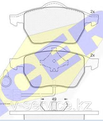 Тормозные колодки YOTO G-018(MD 8221W)(REMSA 390.02)