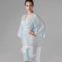 Халат кимоно с рукавами SMS (люкс) голубой Чистовье (5 шт.) №2371