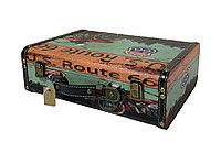 Чемодан/кейс для барбера кожзам с двумя замками 34 х 25 х 12 см в ассорт. №11969