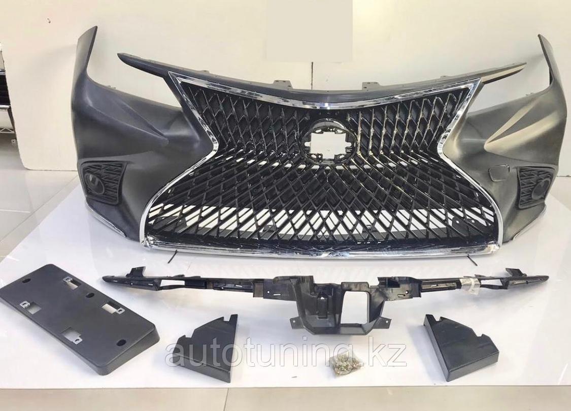 Фэйслифт (передний бампер тюнинг) дизайн LEXUS на Toyota Corolla 2019-2021