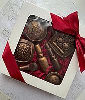"""Набор сладостей подарочный """"Для девушки"""" в ассортименте (шоколад в картонной коробке 17см х 17см), фото 1"""
