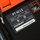 Газонокосилка бензиновая PATRIOT PT 42LS, 150сс, 4л.с., 41см, 40л. трав., метал. дека, на колесах, фото 5