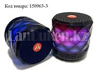 Колонка беспроводная Bluetooth-спикер мини с подцветкой для телефонов и портативных ПК (Черная)