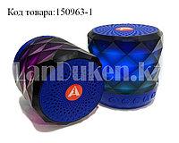 Колонка беспроводная Bluetooth-спикер мини с подцветкой для телефонов и портативных ПК (Синяя)