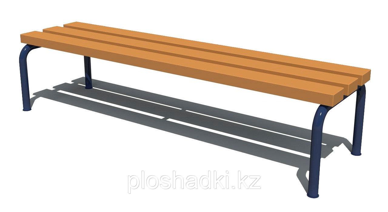 Скамья детская с деревянным сиденьем