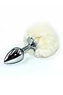 Серебряная пробка с заячьим хвостиком Happy Rabbit, 3 см, фото 2