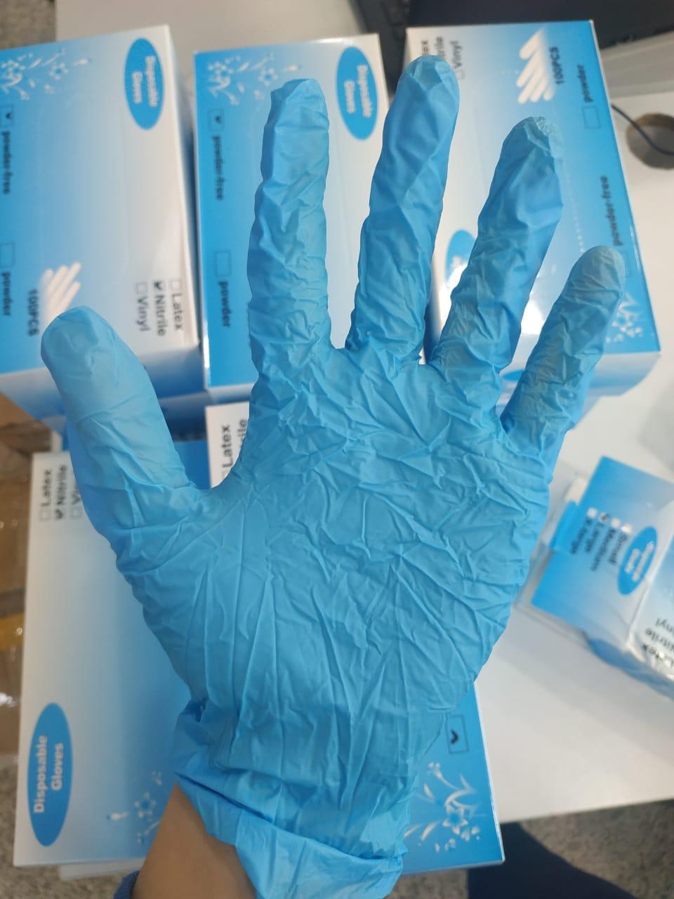Перчатки нитрил неопудренные, нестерильные - фото 3