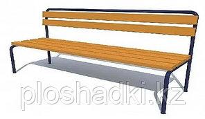Скамья детская с деревянными сиденьем и спинкой