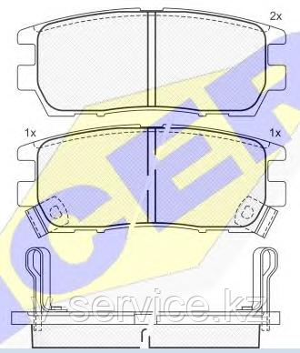 Тормозные колодки YOTO G-019(MD 6054M)(REMSA 405.02)