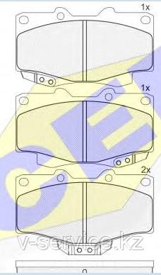 Тормозные колодки YOTO G-023(MD 2082M)(REMSA 315.04)