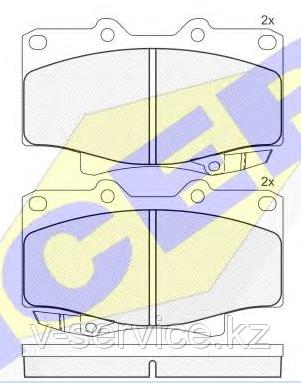 Тормозные колодки YOTO G-023/1(MD 2117M(REMSA 429.04)