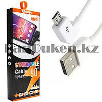 Зарядный USB кабель Type-c L образный разъем длина 1 метр Moxom UC-08 2.4А micro белый