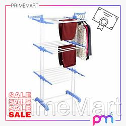 АКЦИЯ! Сушилка для Белья Трехуровневая для одежды и обуви Мобильная Spray Painting Clothes Hanger 35м