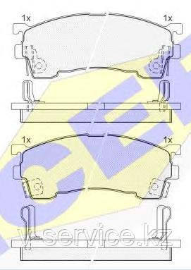 Тормозные колодки YOTO G-025(MD 3084M-10)(REMSA 415.04)