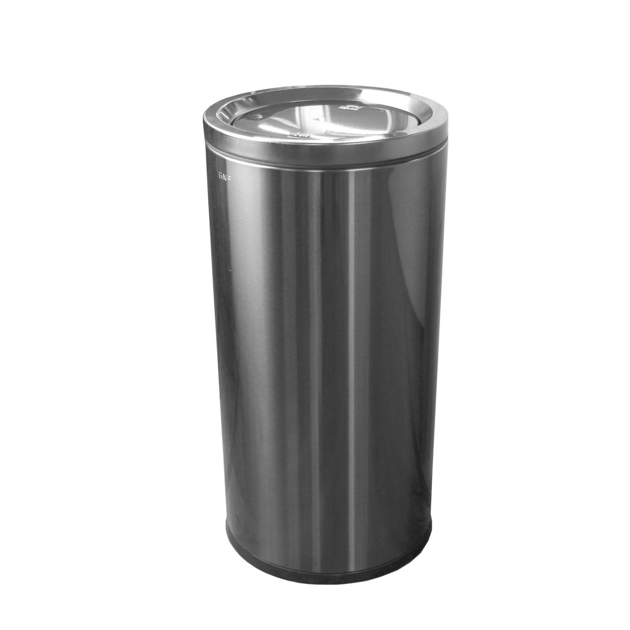 Ведро мусорное с плавающей крышкой 50 л. хром