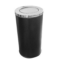 Ведро мусорное с плавающей крышкой 50 л. черная/хром