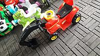 Толокар экскаватор с ковшом красный, фото 1