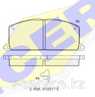 Тормозные колодки YOTO G-030(MD 2085)(REMSA 167.04)