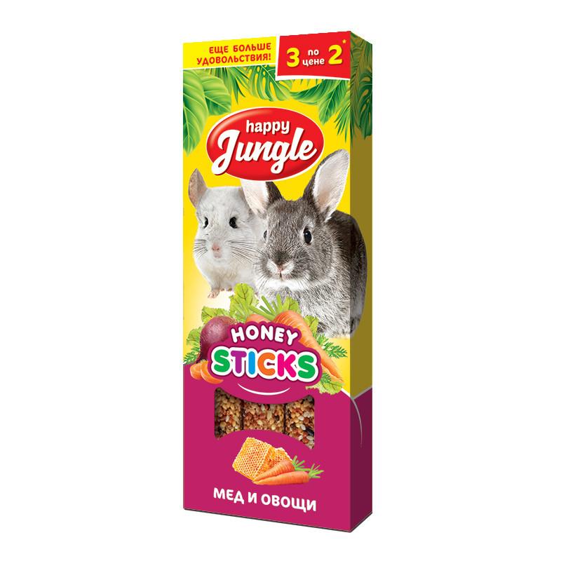 Лакомство для грызунов Happy Jungle, мёд и овощи