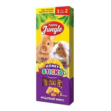 Лакомство для грызунов Happy Jungle, медовый микс