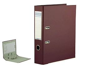 Папка-регистратор KUVERT А4, ширина корешка 72 мм, бордовая