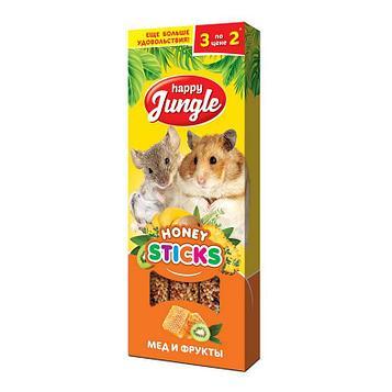 Лакомство для грызунов Happy Jungle, мёд и фрукты