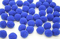 Помпоны для рукоделия (d - 2,5 см.) - синие (50 штук)