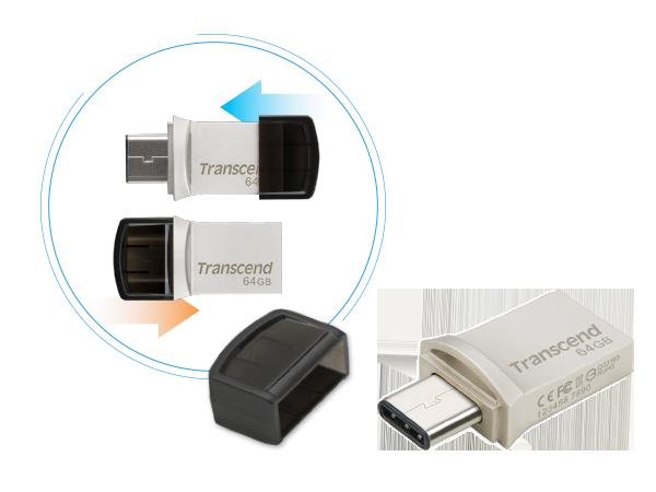USB Флеш 64GB 3.0 Transcend TS64GJF890S метал