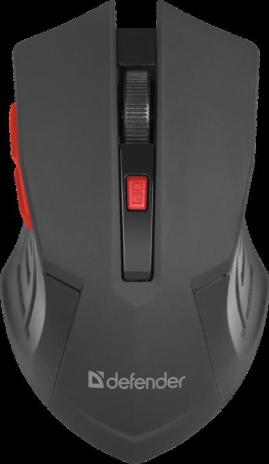 Мышь беспроводная Defender Accura MM-275 черный-красный