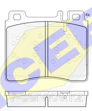 Тормозные колодки YOTO G-066(MD 8082)(REMSA 420.00)