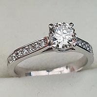 Сертификат GIA 0.95Сt SI1/M VG-Cut Золотое кольцо с бриллиантами, фото 1