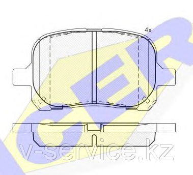 Тормозные колодки YOTO G-082(MD 2166)(REMSA 621.00)