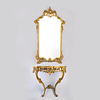 Зеркало с консолью в Венецианском стиле Италия. Середина-II половина XX века.