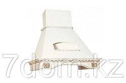 Вытяжка классика Elikor Бельведер Флореале 90П-650 беж/дуб белый + патина золото