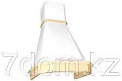 Вытяжка классика Elikor Камин Грань 60П-650 бежевый/бук крем патина + золото